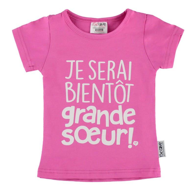 Big Sister T-Shirt 12-24m