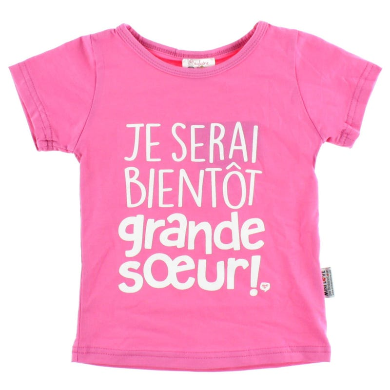 T-Shirt Grande Soeur 2-4ans