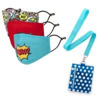 Masques Paquet de 3 avec Étui Bande Dessinée 3-7ans