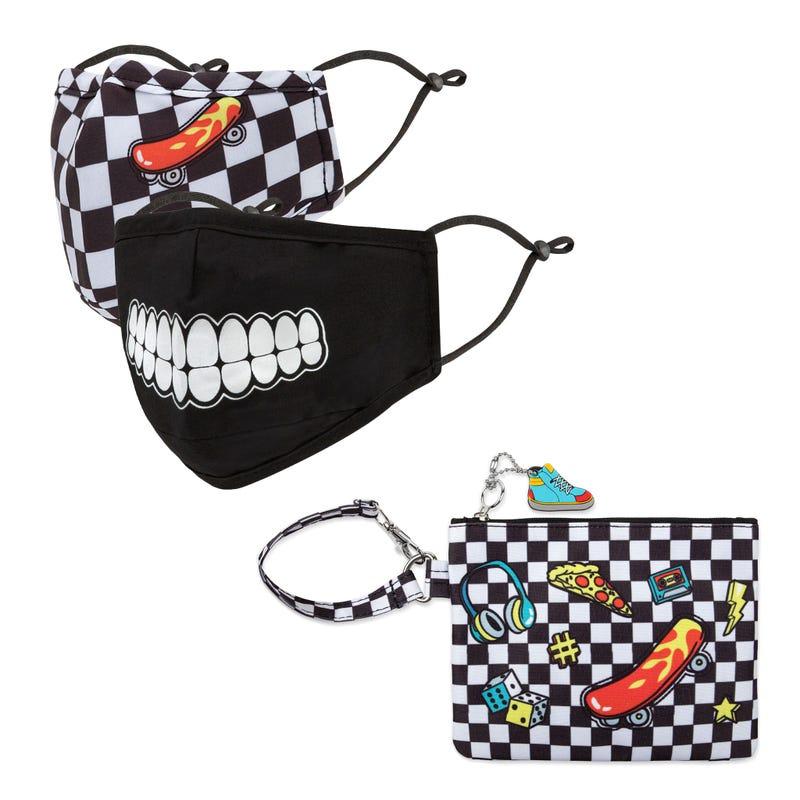 Masques Paquet de 2 avec Étui Skate 3-7ans