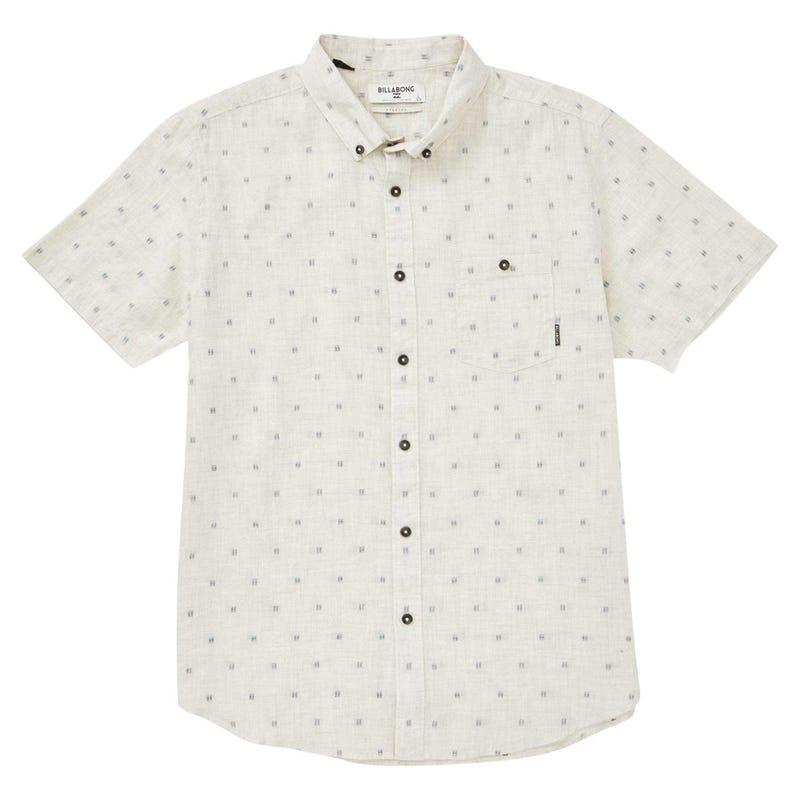 All Day Jacquard Short Sleeve Shirt 8-16y