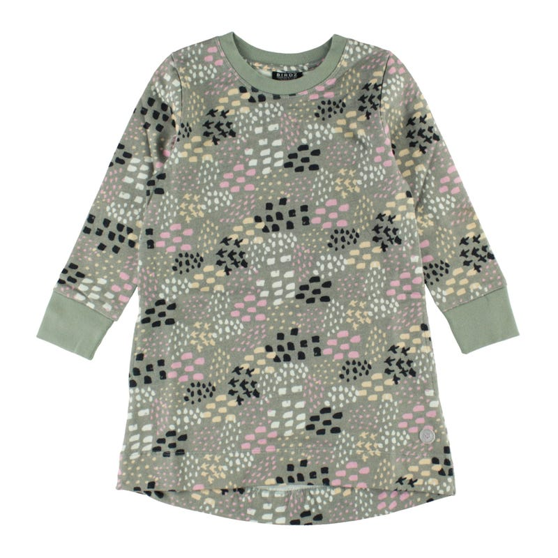 Handdrawn Long Sleeves Dress 2-6y