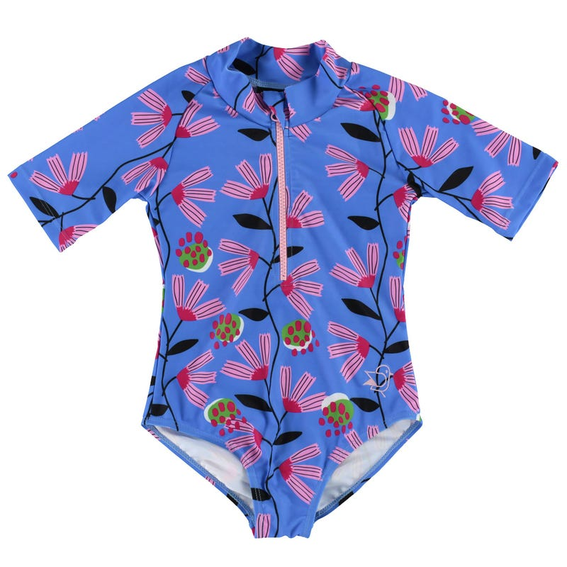 Maillot UV Manches Longues Pivoines 2-6ans