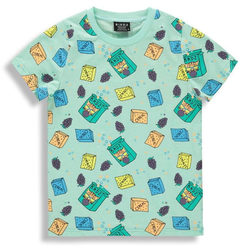 T-Shirt Menthe Dejeuner 3-7ans