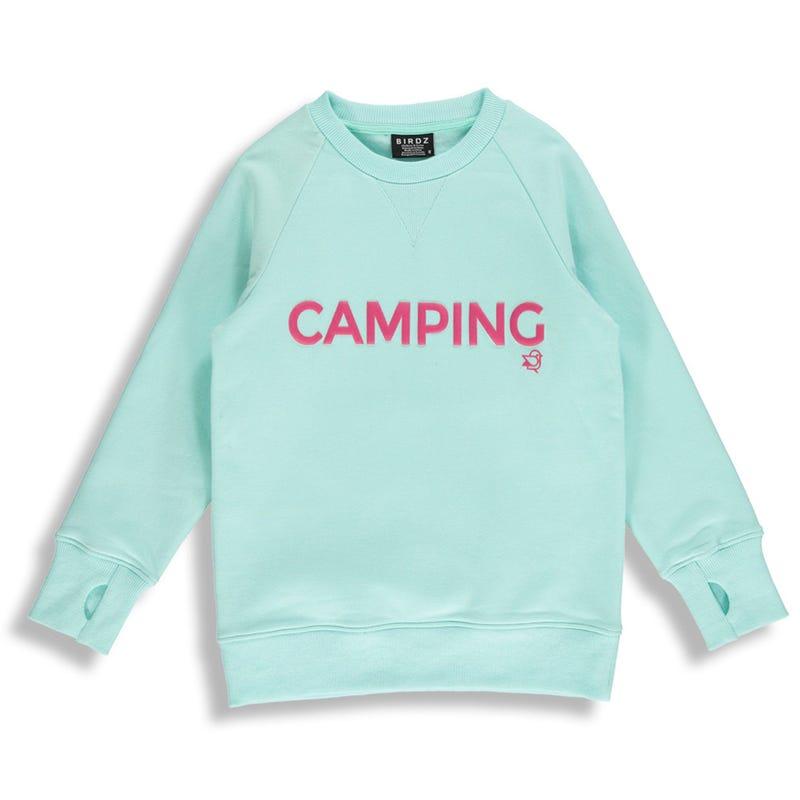 Camping Mint Sweatshirt 2-6y