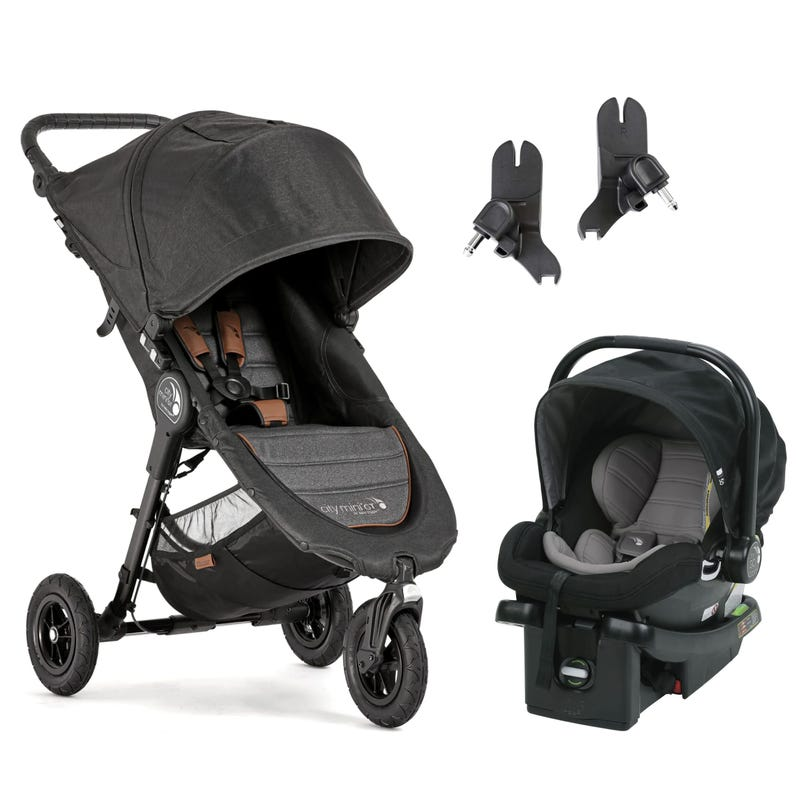 Stroller City Mini GT / Adapter / Car Seat Set - Black