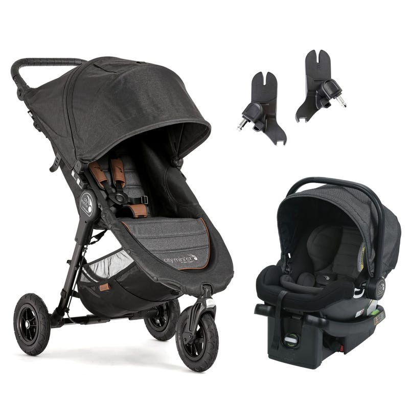 Stroller City Mini GT / Adapter / Car Seat Set - Charcoal