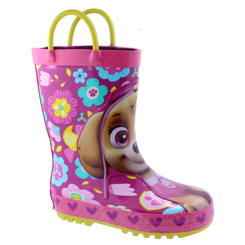 Paw Patrol Rain Boots Sizes 5-11 - Pink