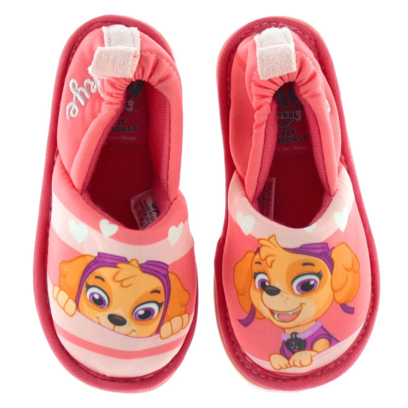 Paw Patrol Slippers Sizes 5-12 - Pink