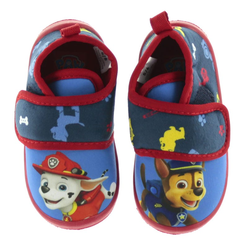 Paw Patrol Slippers Sizes 5-12 - Blue