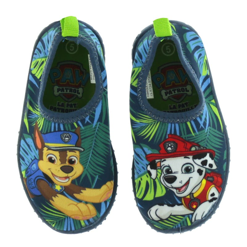 Paw Patrol Water Shoes Sizes 5-10 - Blue