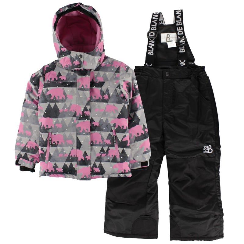 Bear Snowsuit 4-6y - Pink