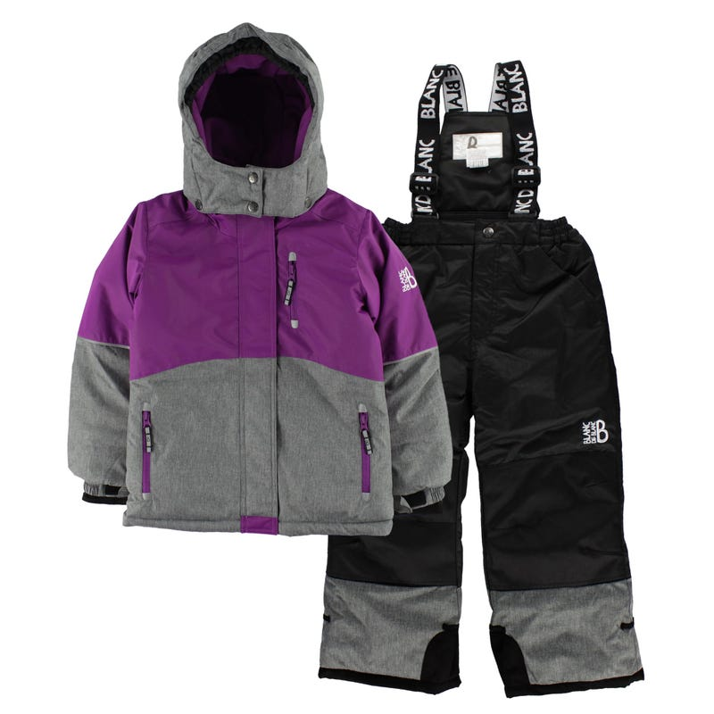 Texture Snowsuit 7-12y - Purple