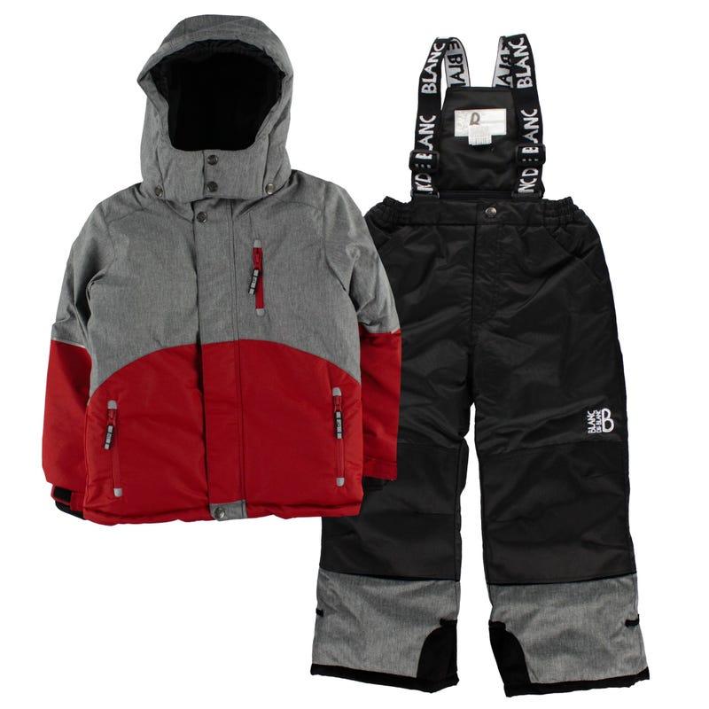 Texture Snowsuit 7-12y - Red