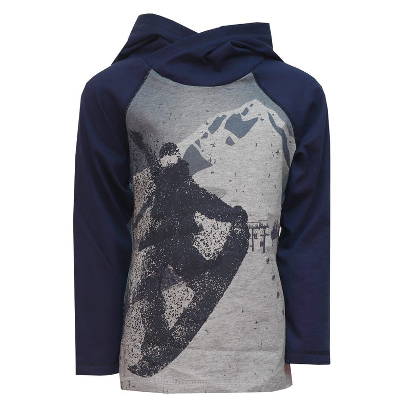 Sports Hooded T-Shirt 2-8y