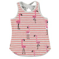 Flamingo Striped Tank Top 2-8y