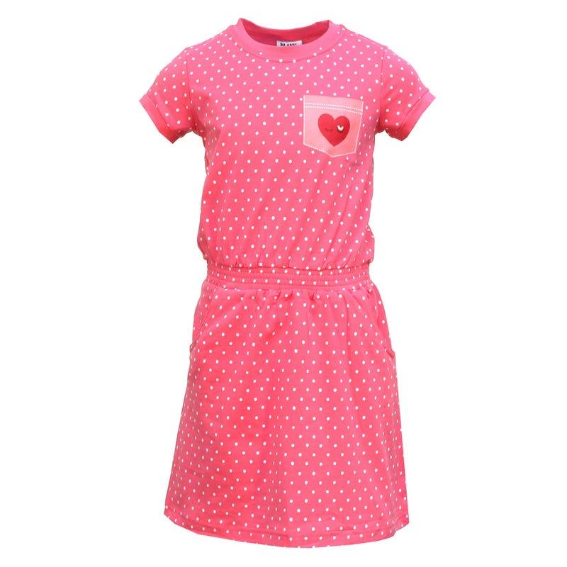 Heart Dots Dress 2-8y