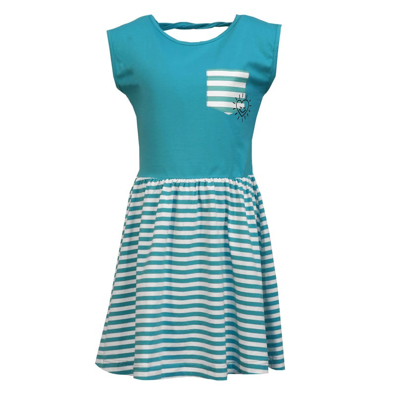 Heart Striped Dress 2-8