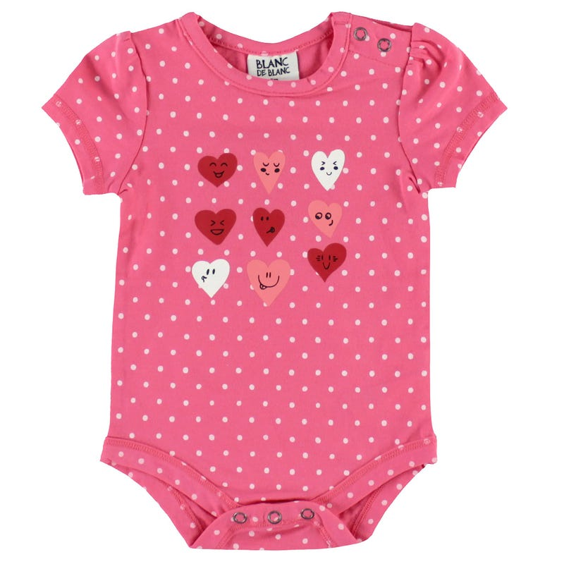 Hearts Dots 1pc T-Shirt 3-24m