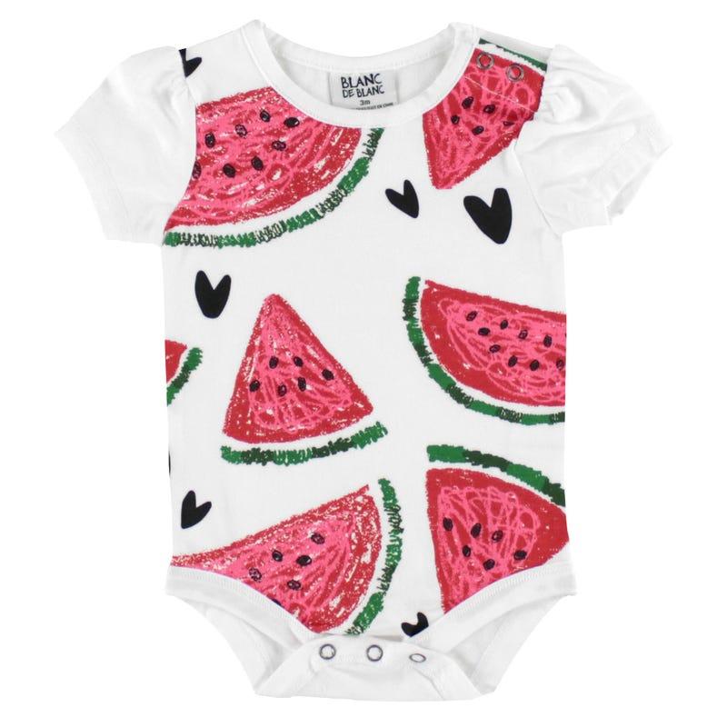 T-Shirt 1pièce Melon d Eau 3-24mois