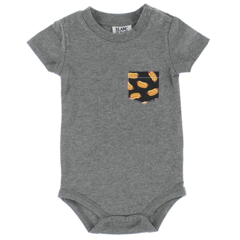 T-Shirt 1pièce Hot Dog 3-24mois
