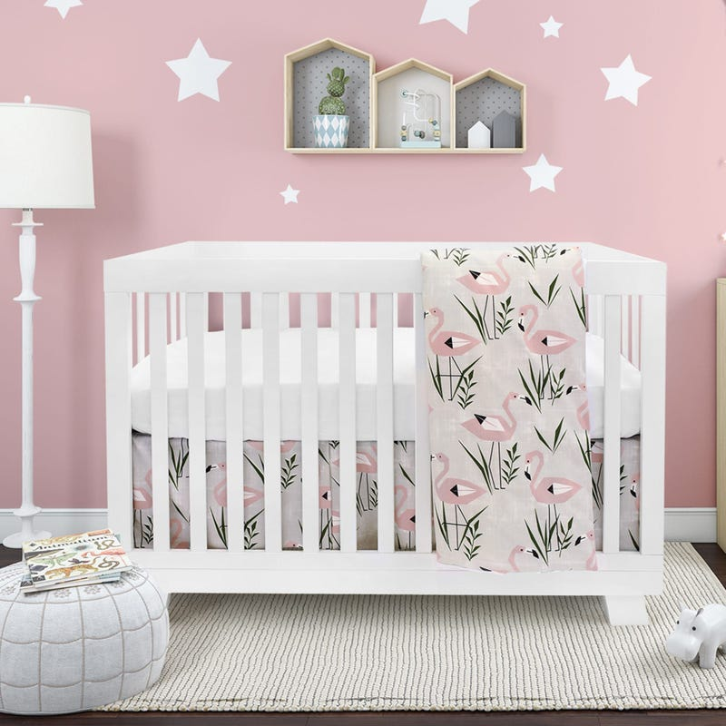 4 Pieces Crib Set - Flamingo