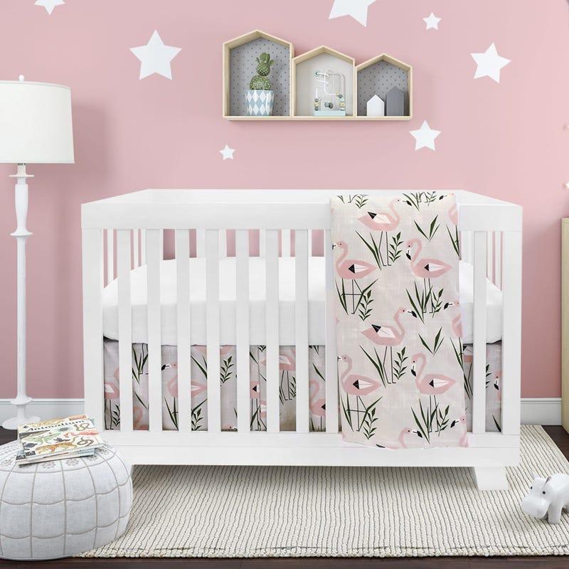 Flamingo 4 Pieces Crib Set