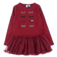 Long Sleeve Dress 4-14y - Red Christmas