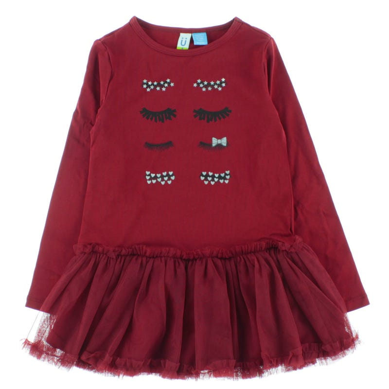 RED CHRISTMAS L/S DRESS 4-14