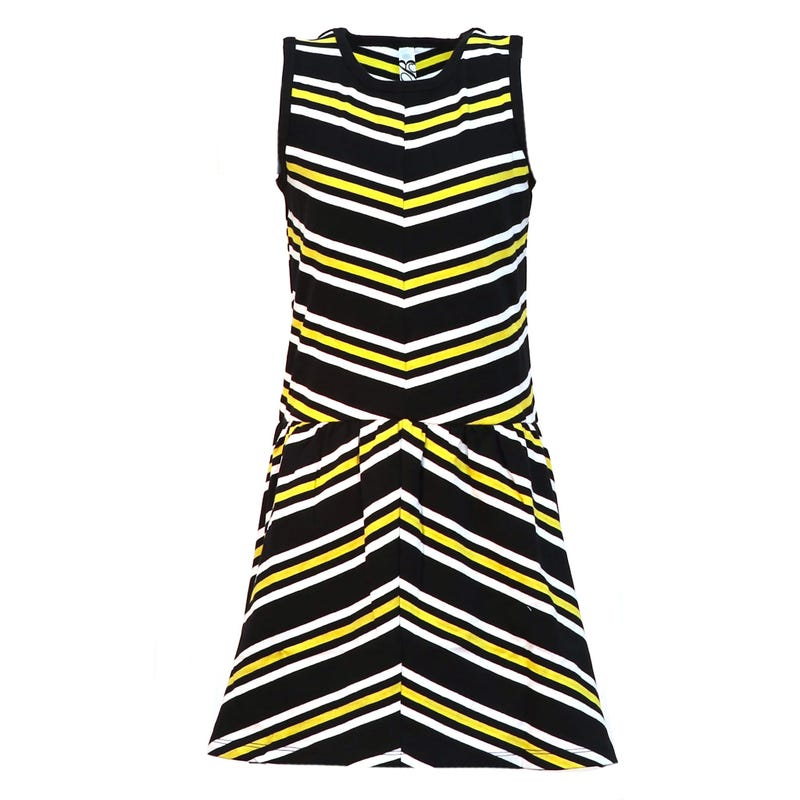 Jordaan Striped Short Sleeve Dress 4-14y