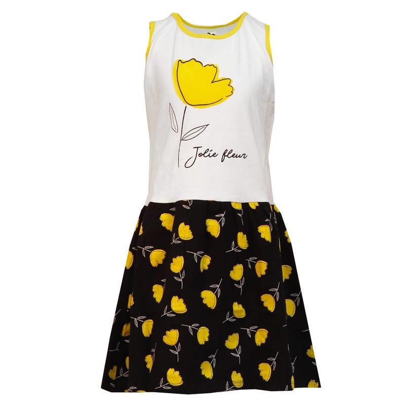 Jordaan Flower Short Sleeve Dress 4-14y