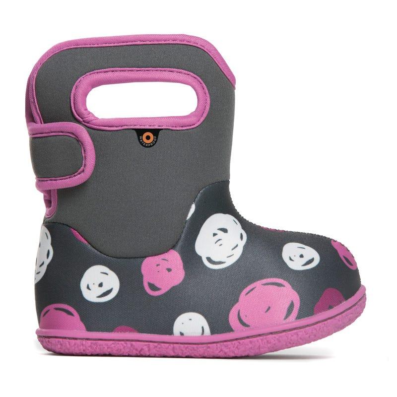 Mid-Season Baby Bogs Dots Boots Sizes4-10 - Dark Gray Multi
