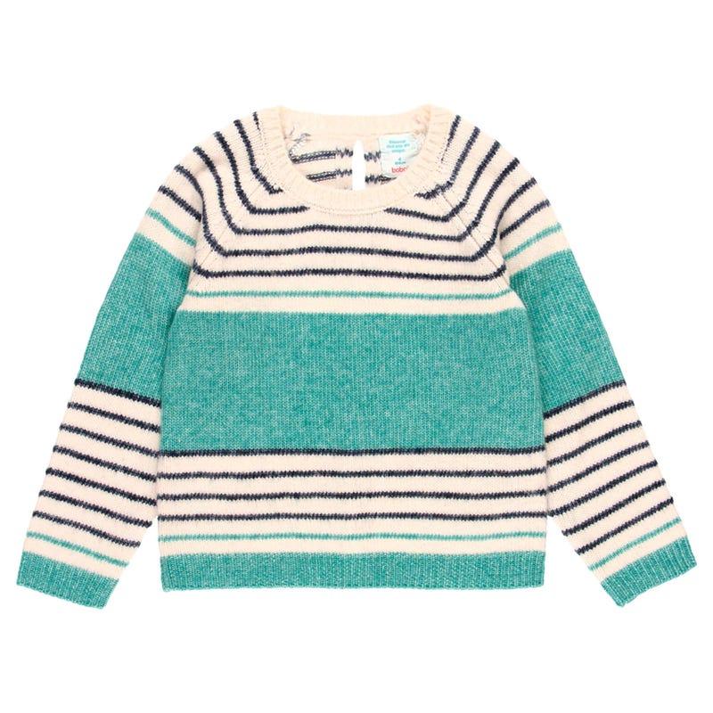 Bloom Stripe Knit Sweater 4-10y