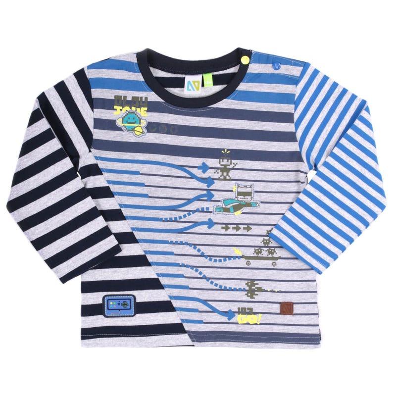 T-Shirt à Manches Longues Rayé Héros 3-24mois