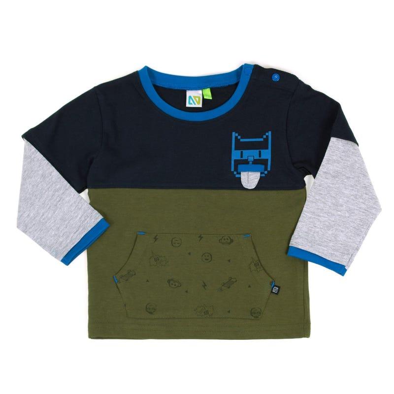 Heros Block Long Sleeve T-Shirt 3-24m