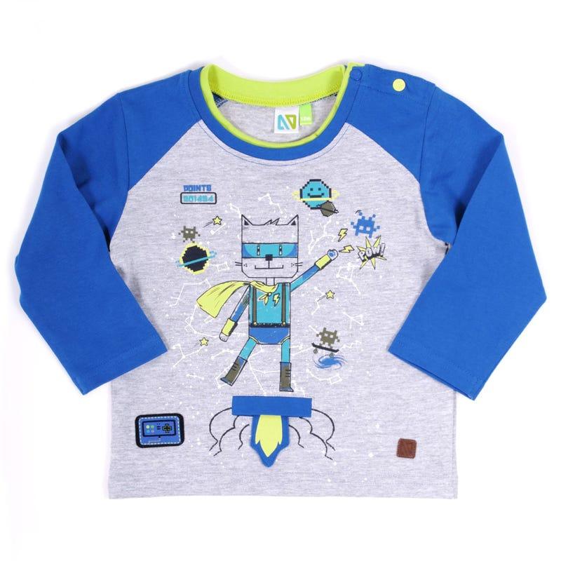 T-Shirt Chat Héros 3-24mois