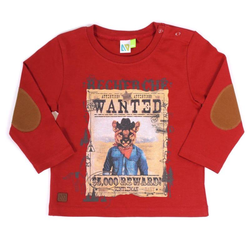 T-Shirt à Manches Longues Tigre Gentleman 3-24mois