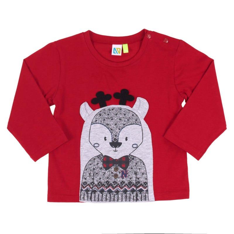Chic Reindeer Long Sleeve T-Shirt 3-24m