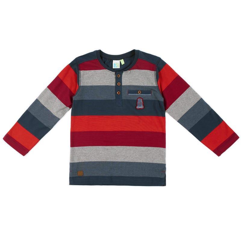 Rock Striped Long Sleeves T-Shirt 7-12y