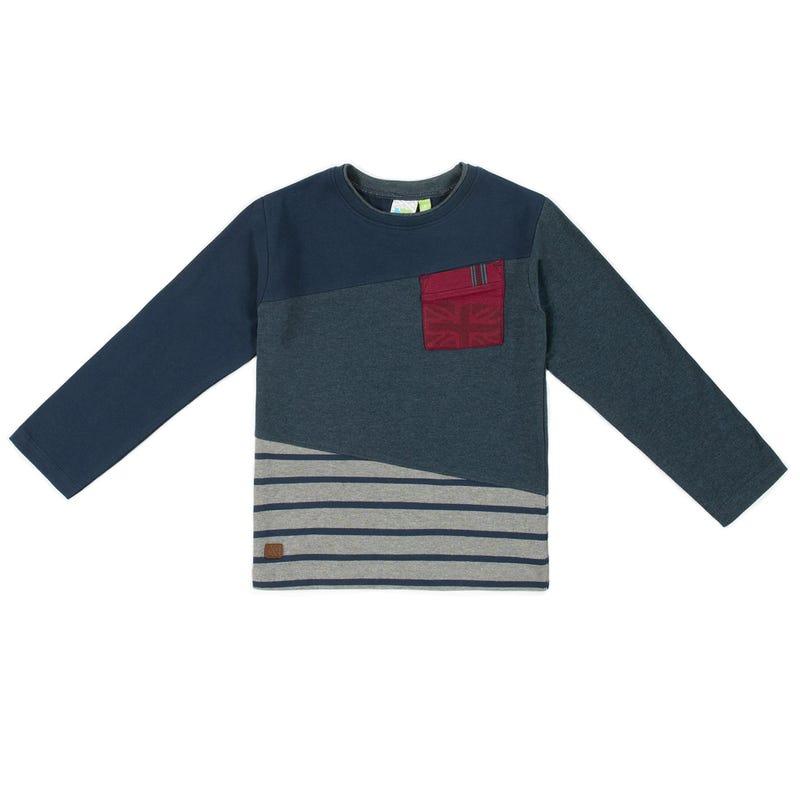 Rock Block Long Sleeves T-Shirt 7-12y