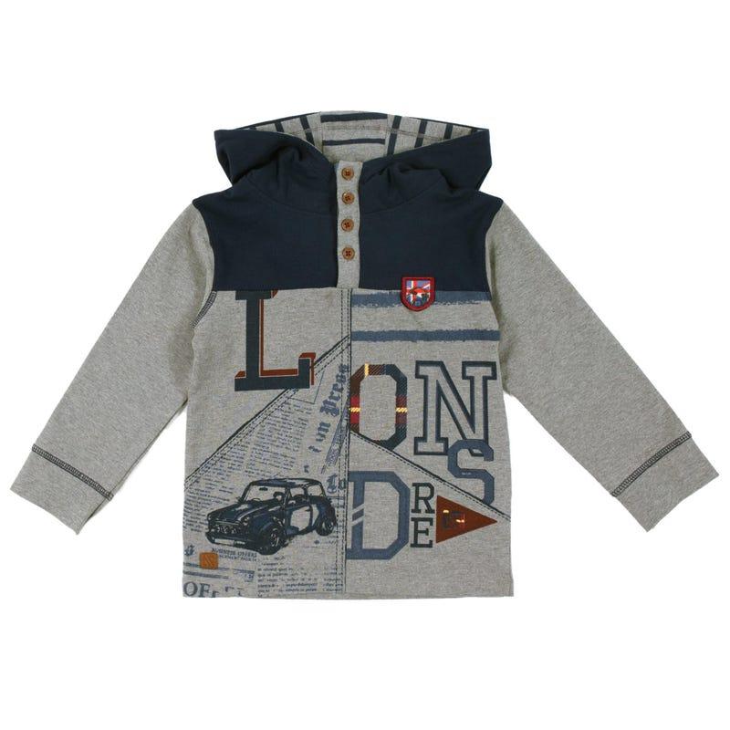Rock Hooded Long Sleeves T-Shirt 7-12y