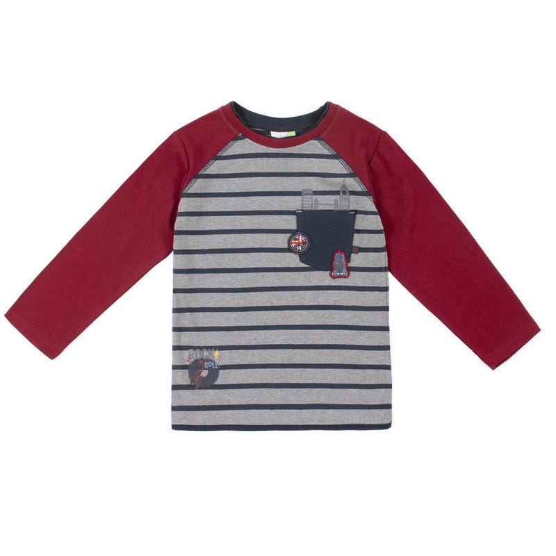 T-Shirt Manches Longues Raglan Rock 2-6ans