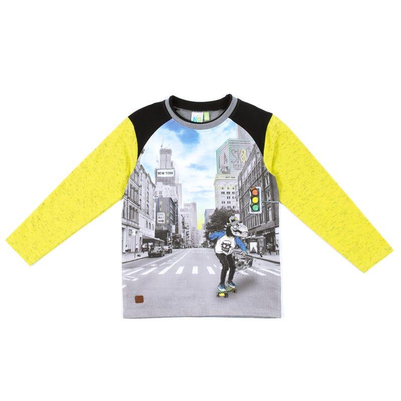 T-Shirt Manches Longues Capuchon Skate 2-6ans
