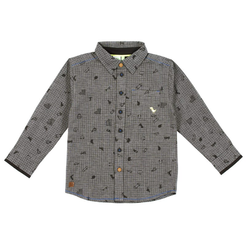 Chemise Manches Longues Skate 7-12ans