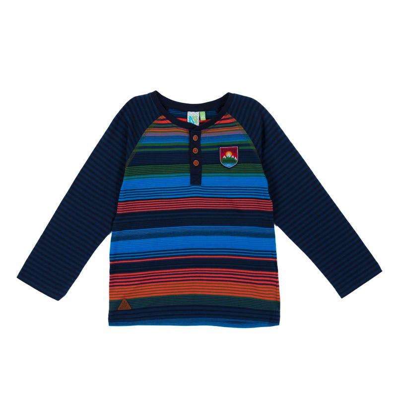 T-Shirt à Manches Longues Henley Scout 7-12ans
