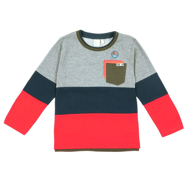 Scout Block Long Sleeves T-Shirt 7-12y