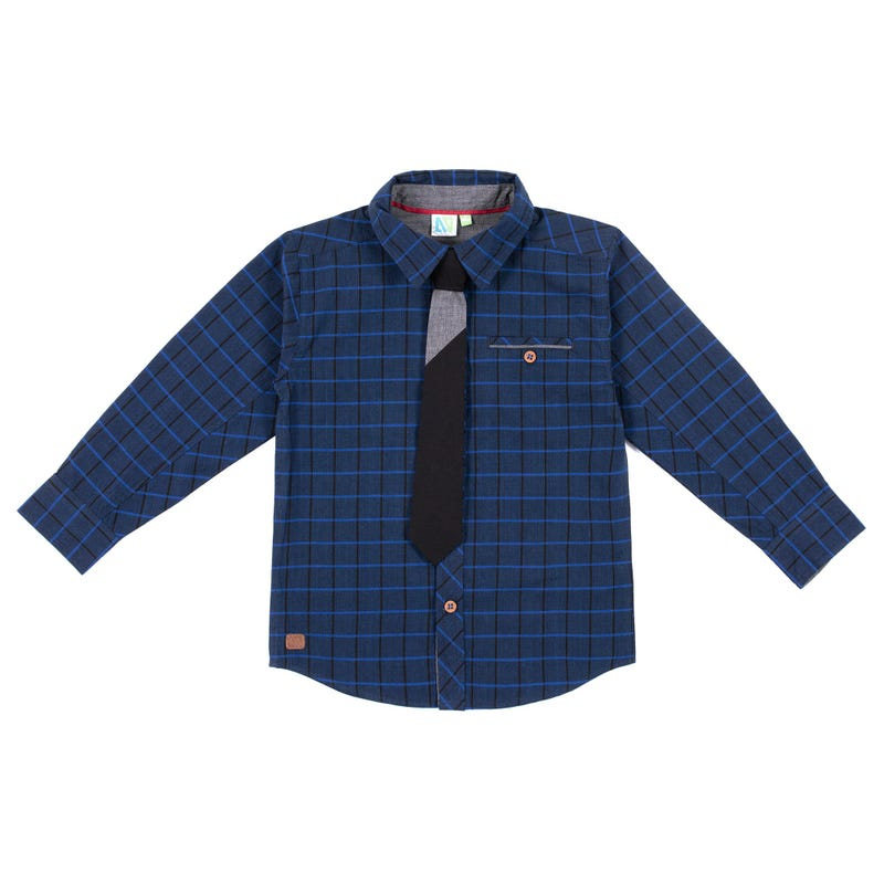 Chic Tie Long Sleeves Shirt 2-6y