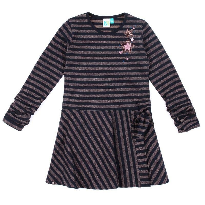 Magic Striped Dress 2-6y