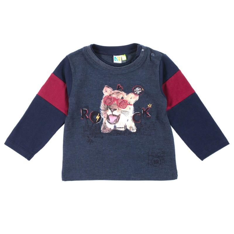 T-Shirt à Manches Longues Tigre Rocker 3-24mois