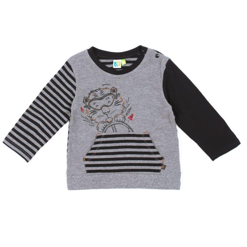 T-Shirt à Manches Longues Mécano 3-24mois